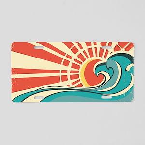 wave at dawn Aluminum License Plate
