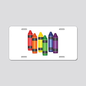Crayons Aluminum License Plate