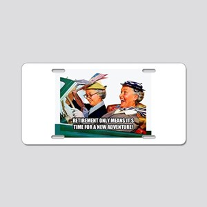 Retirement Adventure Aluminum License Plate