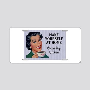 Make Yourself At Home Aluminum License Plate