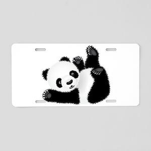 Baby Panda Aluminum License Plate