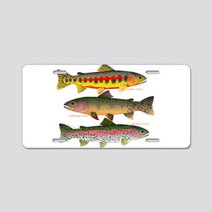 3 Western Trout Aluminum License Plate