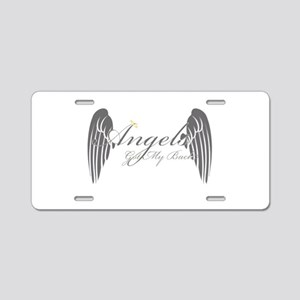 Angels Got My Back Aluminum License Plate