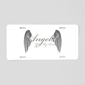 Angels Got My Back Aluminum License Plate