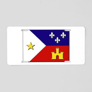 Flag of Acadiana Aluminum License Plate