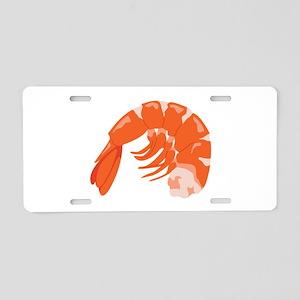 Shrimp Aluminum License Plate