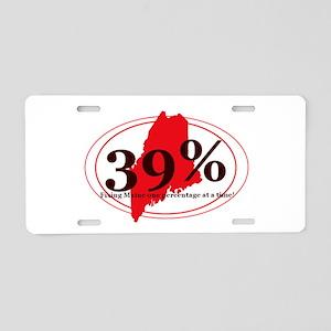 39% Aluminum License Plate