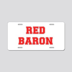 RED BARON! Aluminum License Plate