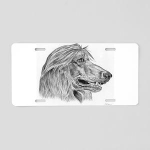 Afghan Hound Aluminum License Plate