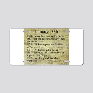 January 10th Aluminum License Plate
