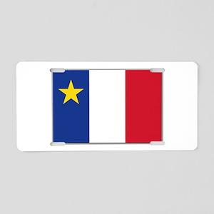 Flag of Acadia Aluminum License Plate