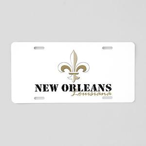 New Orleans Louisiana gold Aluminum License Plate