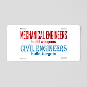 Mechanical vs. Civil Aluminum License Plate