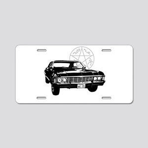 Impala with devils trap Aluminum License Plate