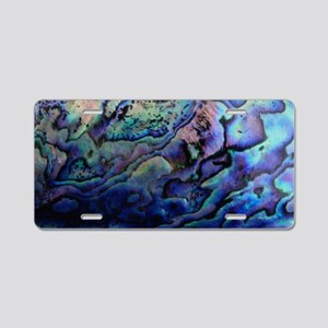 Abalone Aluminum License Plate