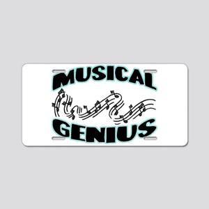 Musical Genius Aluminum License Plate