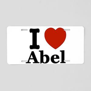 I love Abel Aluminum License Plate