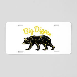 Big Dipper Aluminum License Plate