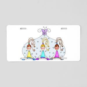Yoga Trio Aluminum License Plate