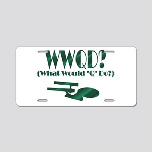 WWQD? Aluminum License Plate