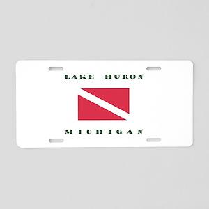 Lake Huron Michigan Dive Aluminum License Plate