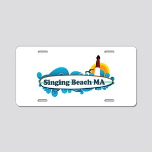 Singing beach MA. Aluminum License Plate