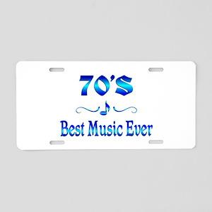 70s Best Music Aluminum License Plate