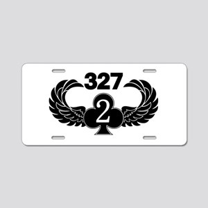 2-327 (2 of Clubs-1) Aluminum License Plate