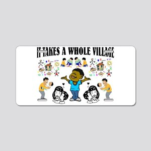 Childrearing Black children Aluminum License Plate