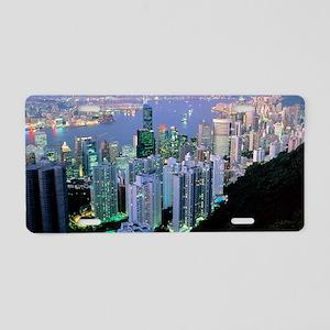 Hong Kong at dawn Aluminum License Plate
