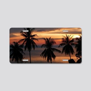 Wonderful Sunset Aluminum License Plate