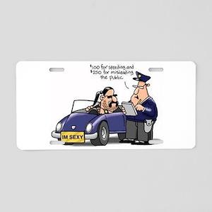 but officer Aluminum License Plate