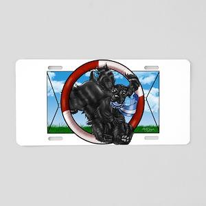 Black Cocker Spaniel Aluminum License Plate
