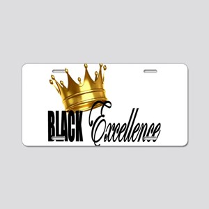Black Excellence Aluminum License Plate