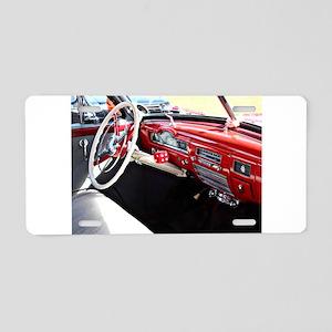 Classic car dashboard Aluminum License Plate
