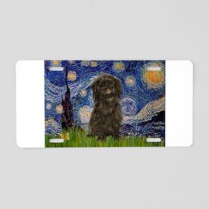 Starry Night / Affenpinscher Aluminum License Plat