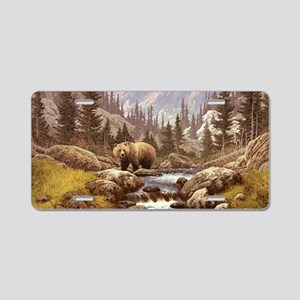 Grizzly Bear Landscape Aluminum License Plate