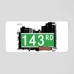 143 ROAD, QUEENS, NYC Aluminum License Plate