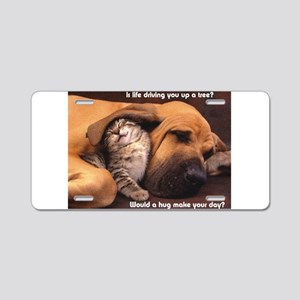 Would a Hug Make Your Day Aluminum License Plate