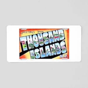 Thousand Islands New York Aluminum License Plate