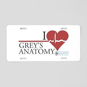 I Heart Grey's Anatomy Aluminum License Plate