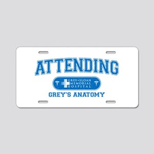 Grey's Anatomy Attending Aluminum License Plate