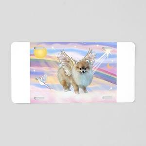 Pomeranian / Angl (s&w) Aluminum License Plate