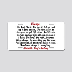 Change Quote Greys Aluminum License Plate