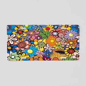 Flower Pattern Aluminum License Plate