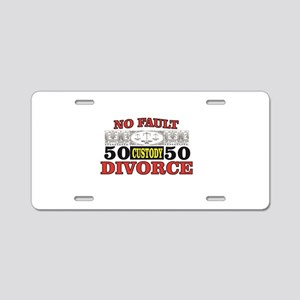 50 50 custody in USA courts Aluminum License Plate