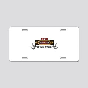 50 50 custody red save marr Aluminum License Plate