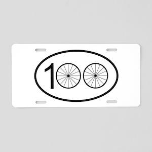 Century Ride Aluminum License Plate
