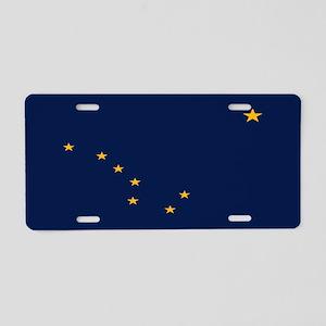 Alaska: Alaska State Flag ( Aluminum License Plate