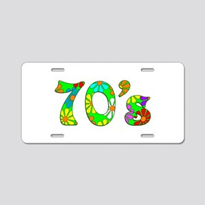 70's Flowers Aluminum License Plate